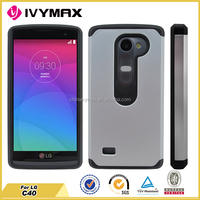 New products 2015 phone accessory for LG C40 hybrid PC+TPU case