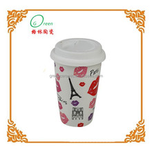 hot sale factory directly made double wall porcelain mug
