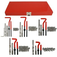 UNC/UNF/Metric screw thread repair kit with simple installation tool