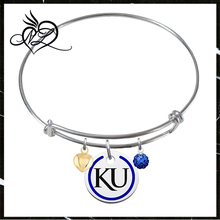 Kansas Jayhawks Bangle Bracelet