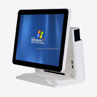 AK-915T Touch Screen Restaurant POS Point of Sales machine with management software in multi-language