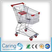 galvanized grocery cart 4 wheels