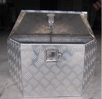 Weldon Rectangular metal truck tool box