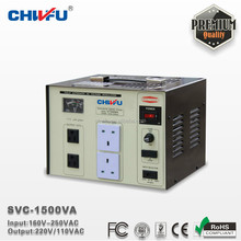 CE ROHS SVC-1500VA single phase avr automatic ac voltage stabilizer
