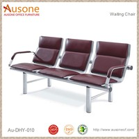 Durable Waiting Chair for Office, Public Seating, Three Seaters