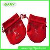 Fashionable Red Velvet Christmas Gift Bag