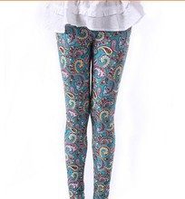Colorful graffiti painted fashion printing leggings