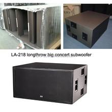 "LA-218/ dual 18"" longthrow outdoor subwoofer for big concert"