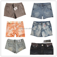 GZY free ship delivery women cheap wholesale mixed short jeans destroyed