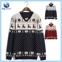 Big-world High quality V-neck ugly christmas sweater for men & knitting sweater jumpers & men sweater custom