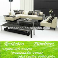 Commercial living room modern wooden fabric sofas furniture