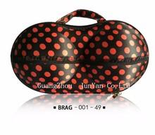 2015 Fashionable EVA Bra Bag Organizer Travel Lightweight Underwear Storage Bag Wholesale with red knot