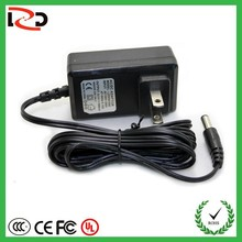 wall mount 12V 1a power adapter LED with US,EURO,AUS,UK plug