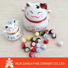 high quality Fashion new design Ceramic Cat Ornament