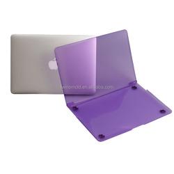 Transparent purple plastic case for macbook air 13''