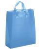 solid color soft handle HDPE merchandise carrier bag