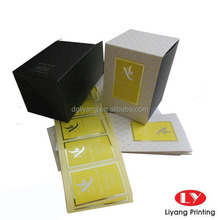 Custom printing paper candle box with paper sleeve design