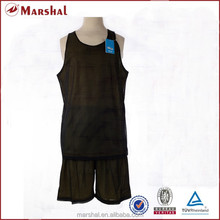 Black white reversible basketball jersey set China sports clothing manufacturer