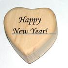 Wc013 um coração de madeira, criativo do presente ofício, presentes personalizados, o desejo de madeira