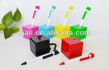 heart shape colorful table desk pen with smile