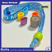 create your own brand/name festival woven wristband