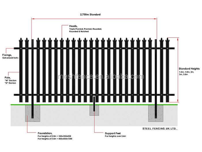 cerca para jardim alta : cerca para jardim alta:de vedação de alta segurança aço palisade cerca palisade e jardim
