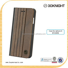 hot new product for 2015 wood wallet leather case for iPhone 6 leather case