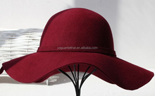 Factory wholesale Wool wide brim winter hat women floppy hats