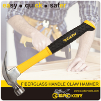 Fiberglass Handle Claw Hammer