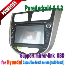Pure android 4.4 car dvd For HYUNDAI Verna 2010-2012 RDS ,GPS,WIFI,3G,support OBD,support TPMS