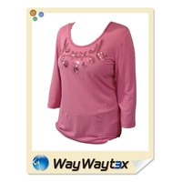 Sewing paillette design lady fashion casual blouse made in Vietnam