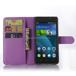 Mobile accessories lychee pu leather case with wallet and card slots for huawei y635 case made in china