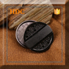 2015 guangzhou round black 25 mm no sew fashion types of metal snap button for garment