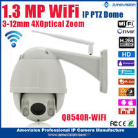 Amvision 2.0 mp High speed dome Camera and Pan / Tilt / Zoom Technology PTZ ip camera