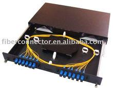 "19"" 1U sliding Fiber Optic Patch Panel with fiber management"