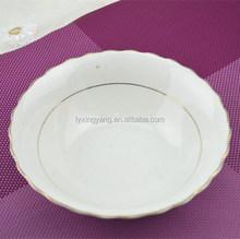 cut edge/round edge soup plate,porcelain plate,ceramic plate