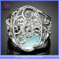 2013 ALIBABA RECOMMEND NEW DESIGN RING WHOLESALE 18K GOLD PLATED ELEGANT CRYSTAL DIAMOND NAPKIN RING (XR048)