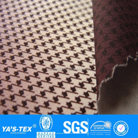 gradient color houndstooth likeness printing fabric polyester woven fabric