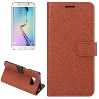 Alibaba China Litchi Texture Horizontal Flip Leather wallet case for Samsung galaxy s6 edge plus