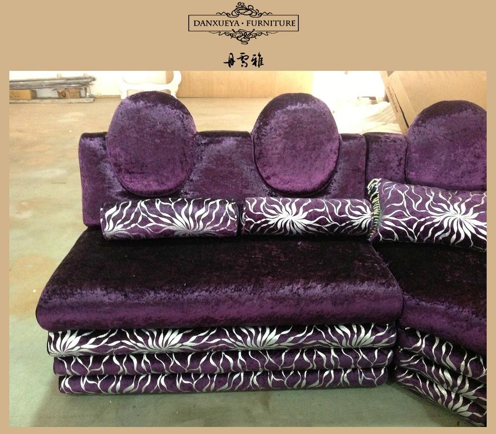 Wohnzimmer arabischen stil U-Form lila ecke sofa setzt, ktv sofa ...