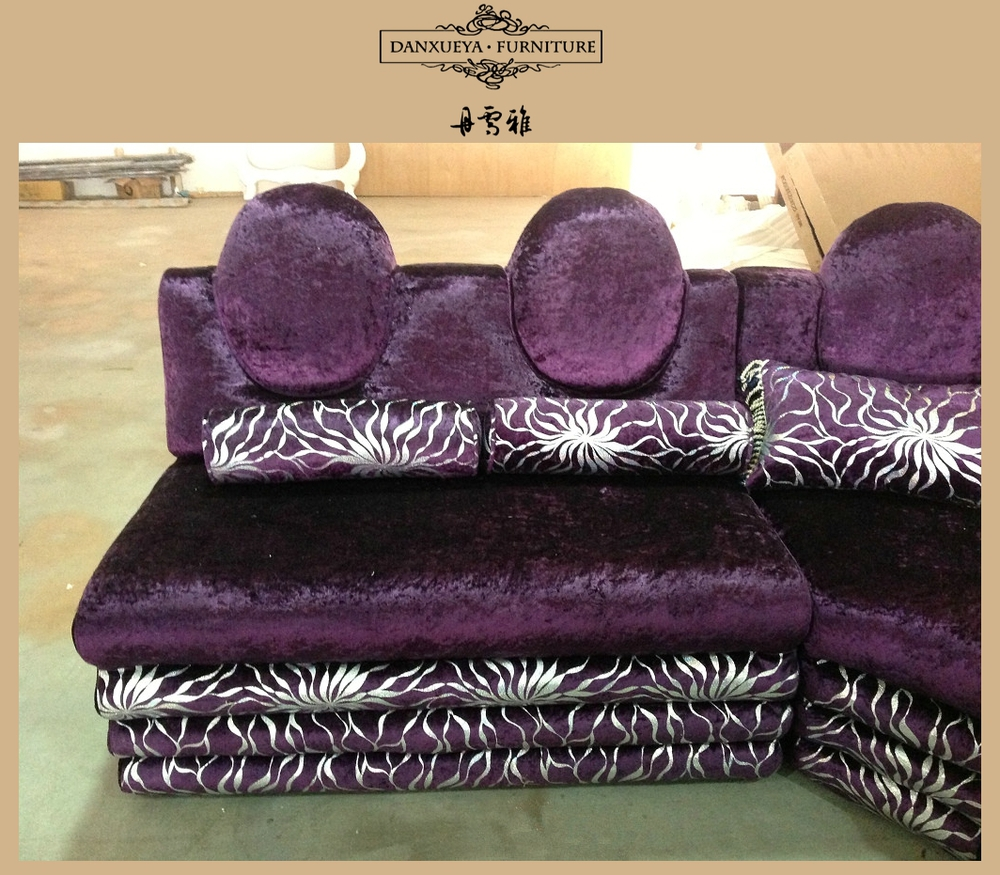 Salon Style arabe U forme violet coin canapé fixe, Ktv canapé fixe ...