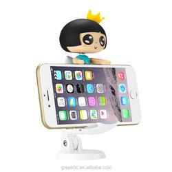 2015 new arrival gift cute funny cartoon shape Fashionable folding adjustable mobile phone car desktop holder