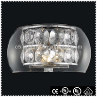Chrome Crystal Glass Cover Classic 3-light Candlebra Crystal Wall Sconces
