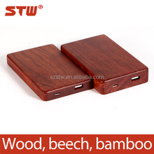 universal larger capacity wooden or bamboo power bank with memory