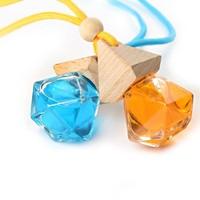 5ml Diamond shape glass hanging empty car perfume bottle