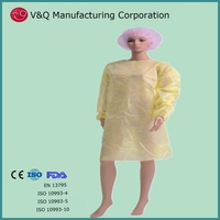 Nonwoven medical protective latex free isolation gown