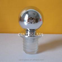 shiny silver UV ball shape plastic stopper for reed diffuser bottle