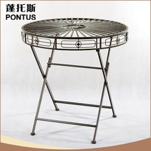 Simple modern folding wrought iron table