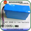 HHS electric vehicle battery 48v 20ah lithium ion 18650 battery pack for electric scooter
