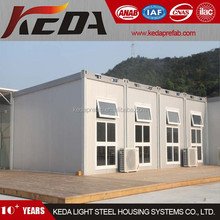 2015 customized design prefab container house with wheels